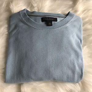 Banana Republic Men's Blue Cashmere Sweater